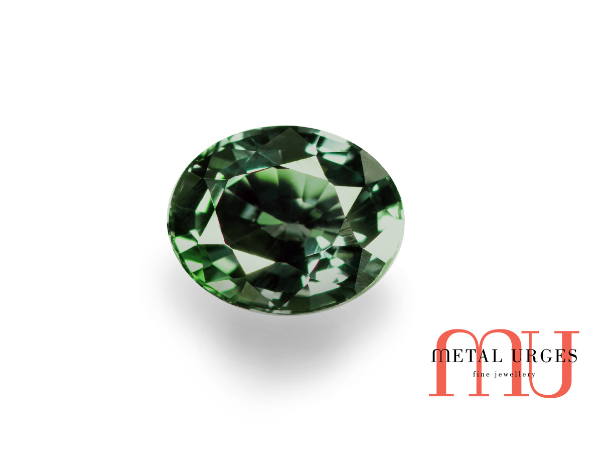 Natural green sapphire, oval cut – Jewellers Hobart, Melbourne