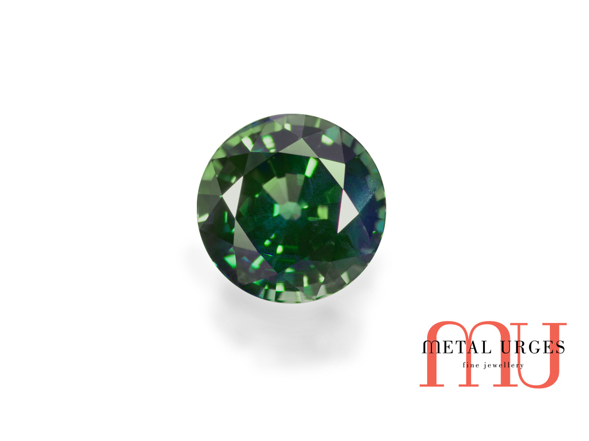 Natural Green sapphire, Brilliant Cut Jewellers Hobart, Melbourne