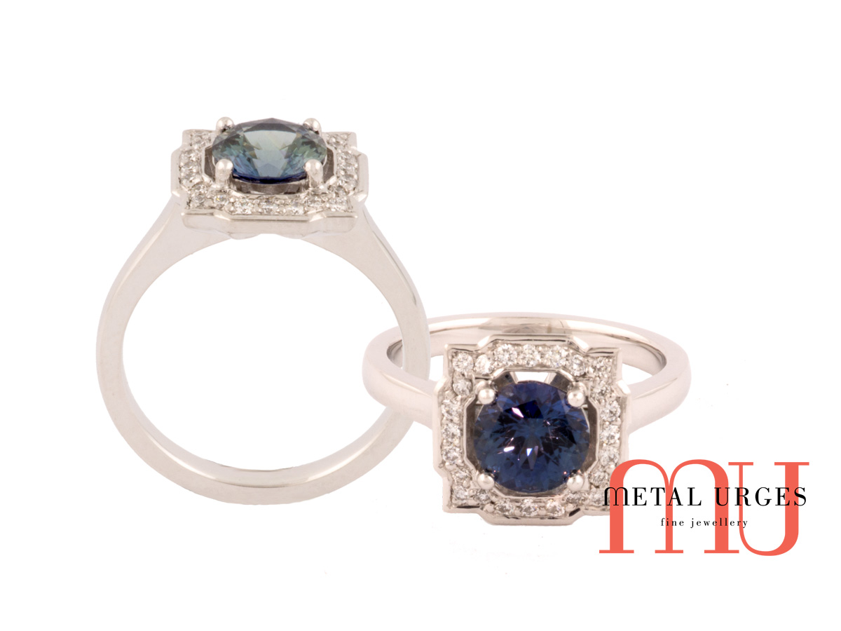 Jewellers Hobart, Australia, Melbourne Sapphire engagement rings