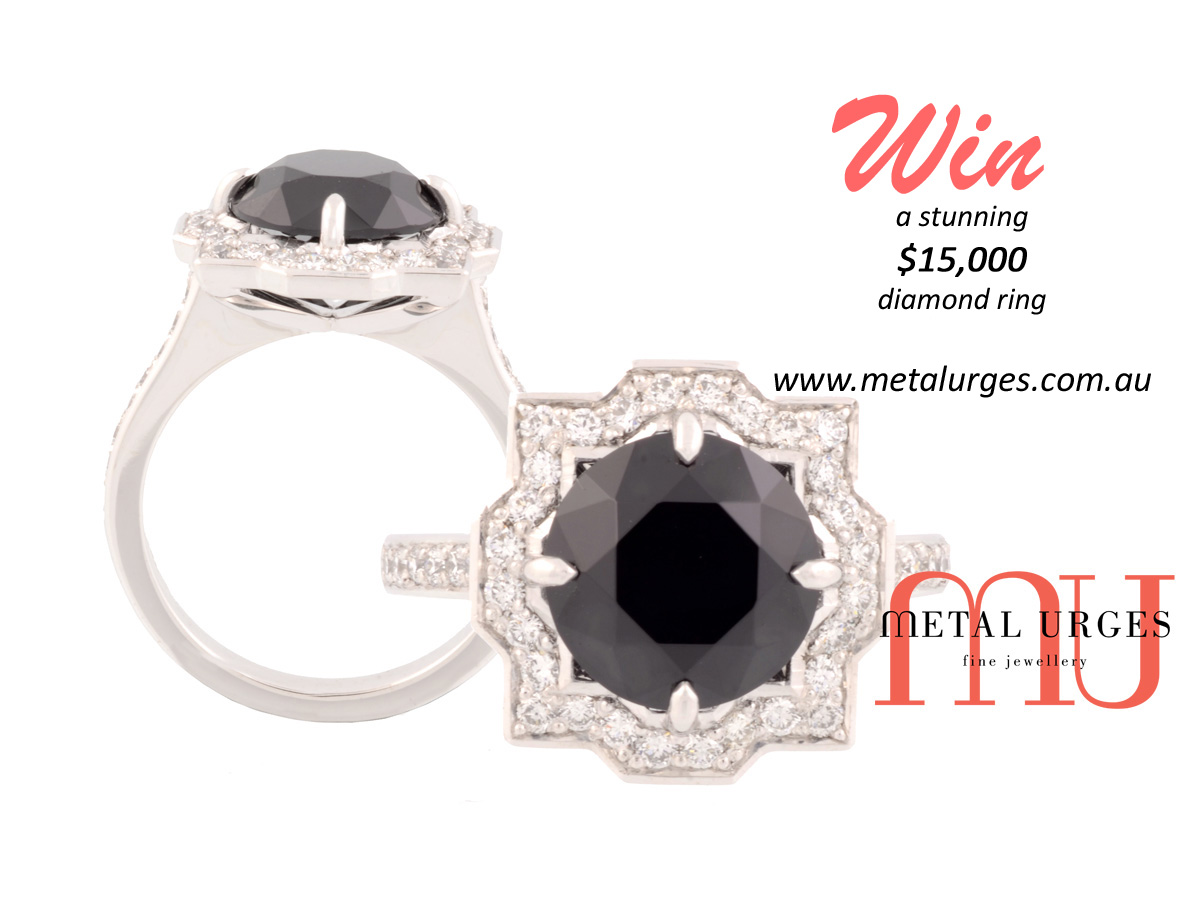 Win a stunning $15,000 diamond ring of your design. Custom made in Australia.
