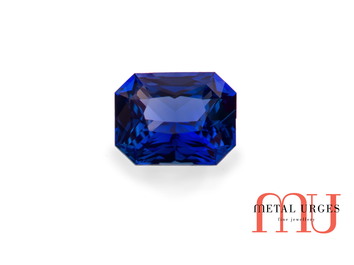 Natural blue sapphire radiant cut