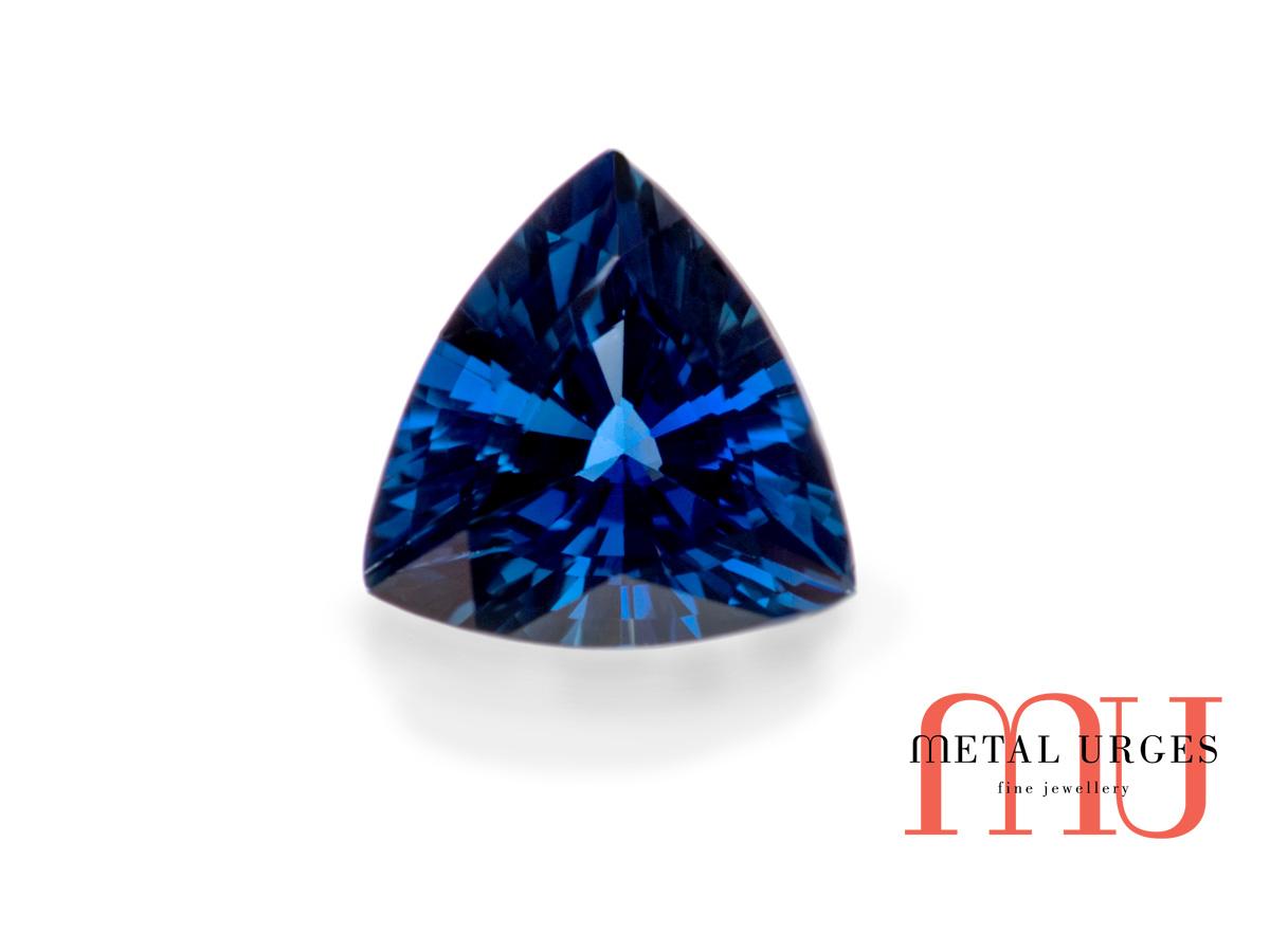 Natural Trillion Trilliant Cut Blue Sapphire Blue
