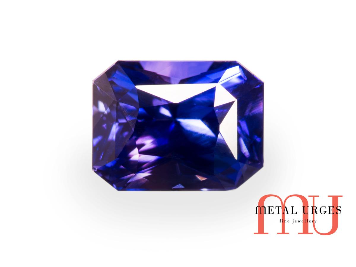Blue Sapphire Rectangular Radiant Cut Blue Sapphire