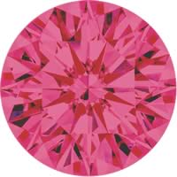 Pink diamonds - purple pink - 1PP