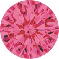 Pink diamonds - purple pink - 2PP
