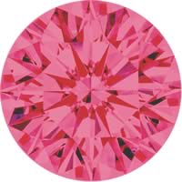 Pink diamonds - purple pink - 3PP
