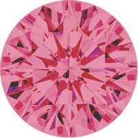 Pink diamonds - purple pink - 4PP