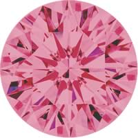 Pink diamonds - purple pink - 5PP