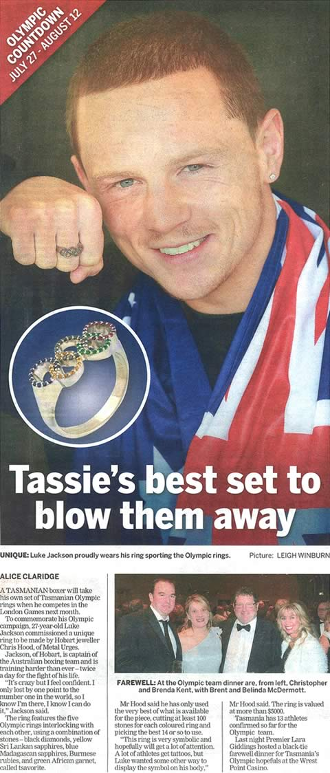 Tassie's best set to blow them away, The Mercury, Newsfront, Saturday 23 June 2012
