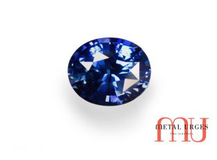 Loose blue oval sapphire