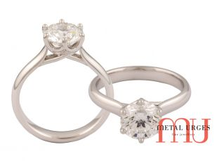 Diamond engagement rings melbourne 6 claw solitaire