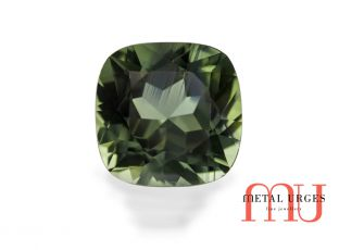 Natural Green sapphire, Cushion Cut Jewellers Sydney