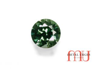 Round Green Sapphire, Brillaint cut Jewellers Hobart, Melbourne