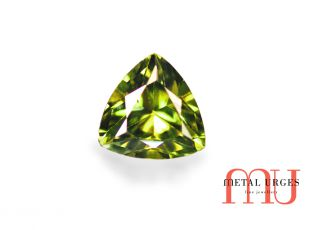 Natural Green sapphire, Trillion Cut Jewellers Hobart