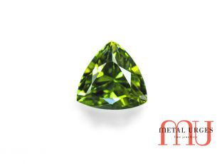 Natural Green sapphire, Trillion Cut Jewellers Hobart, Melbourne