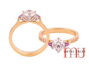 Pink Diamonds Argyle engagement ring