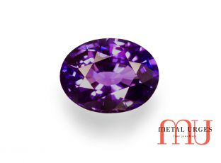 Natural purple sapphire, Oval cut Jewellers Hobart, Sydney