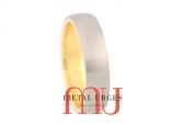 Brushed titanium and 18ct yellow gold wedding ring.  Custom made in Hobart.