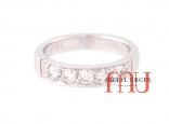 Vintage white diamond and 18ct white gold wedding ring. Custom made in Australia.
