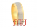 Jewellers-Hobart-Titanium and 18ct yellow gold wedding ring. Handmade by our Jewellers, in Hobart Tasmania.