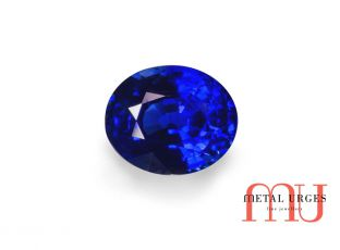 Natural blue sapphire - oval cut