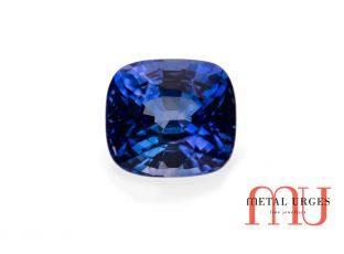 Blue natural sapphire cushion cut