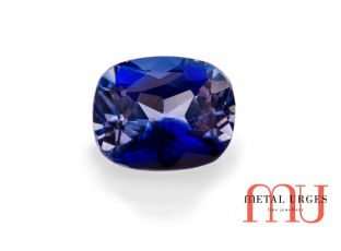 Natural blue sapphire, cushion cut