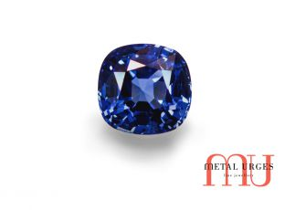 Blue natural sapphire, cushion cut