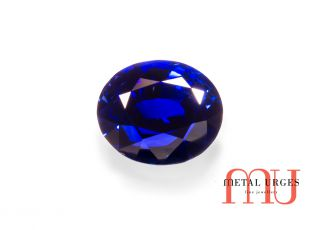 Natural conflict free blue sapphire