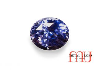 Natural sapphire, oval cut medium strong blue