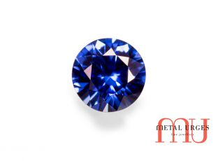 Natural blue sapphire brilliant cut