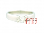 Oval white diamond engagement ring in 18ct white gold. Custom made in Australia.