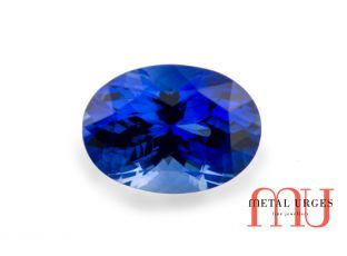 Ethical blue oval cut sapphire