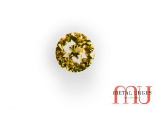 yellow and green round parti-sapphire
