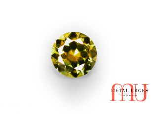 Green and Yellow round polychrome sapphire