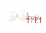 Jewellers Hobart, Australian white pearl and 18ct white gold stud earrings. Custom made in Tasmania, Australia.
