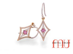 Pink Argyle Australian diamond earrings