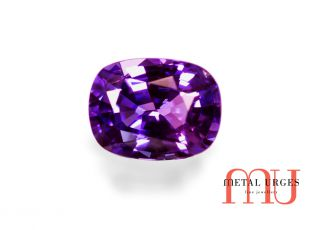 Natural purple oval cut sapphire