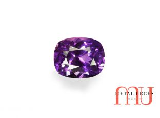 Ethical purple cushion sapphire