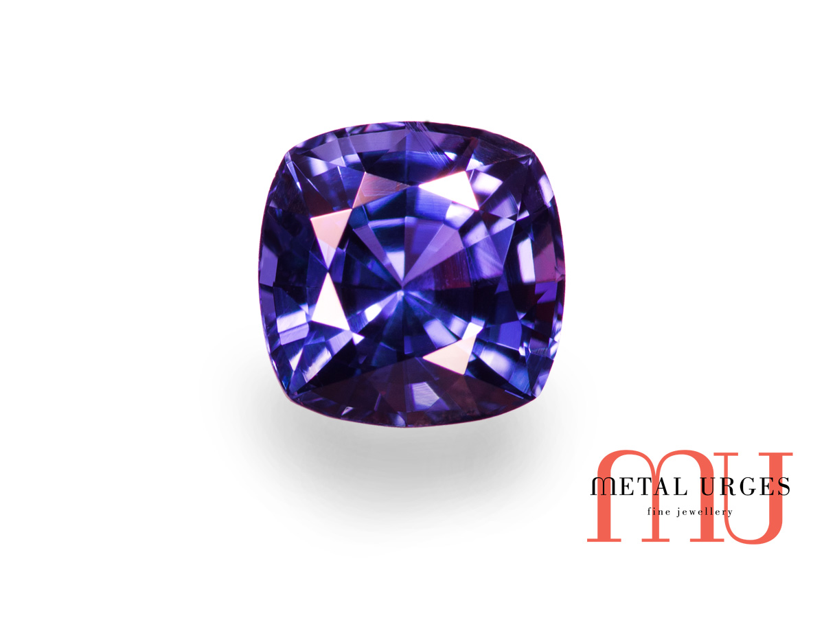 cushion trilliant stone and cut diamond ring cn sapphire
