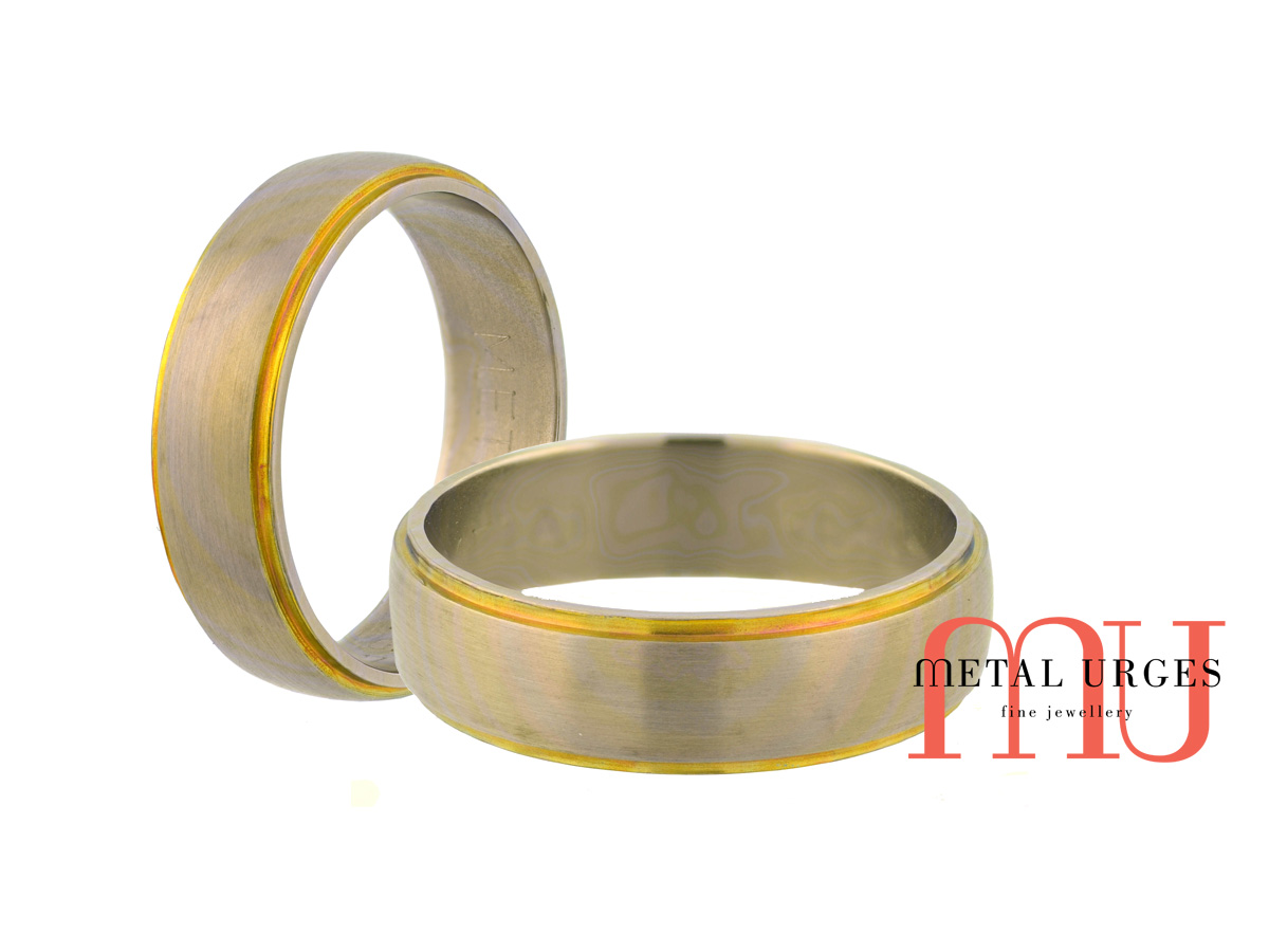 Titanium mens wedding ring. Custom made in Australia.